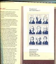 AMERIPEX PRESIDENT 1986 36 STAMP COLLECTION  SET WITH FOLDER