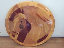 Extraordinary Wood Inlay Horse Prison Art From Maine State Prison