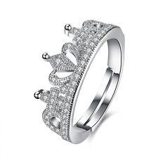 Mujer princesa corona Anillo De boda compromiso Anillos joyería Ring