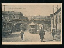 Russia Moscow Pont Stroganov Trams c1900s PPC