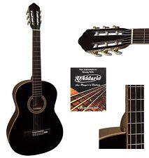 Konzertgitarre-MASSIV 3/4-Jose Ribera-Modell 813BK, in hochglanz schwarz!n