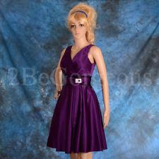 Satin Petite Sleeveless Bridesmaid Dresses