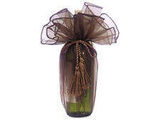 24 Chocolate Organza Wraps Wine Bottle Bags Christmas Fathers Day Weddings Gifts