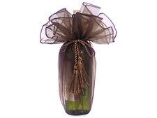 12 Chocolate Organza Wraps Wine Bottle Bags Christmas Holiday Weddings Gifts