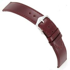 20mm Hirsch Osiris Genuine Leather Padded Ladies Bordeaux Watch Band Strap