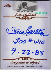 "2012 LEAF INSCRIPTIONS AUTO:STEVE CARLTON ""300th WIN 9.23.83"" AUTOGRAPH PHILLIES"