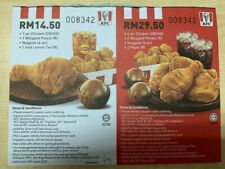 Voucher KFC (Malaysia) Bundle Package 100pcs