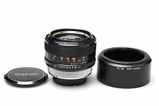 Canon FD 55mm f1.2 S.S.C. Aspherical + + excellent + +