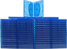 (60) BR6R21BL 6 Disc Capacity Blu-Ray Empty Replacement Boxes Cases 21mm .83""