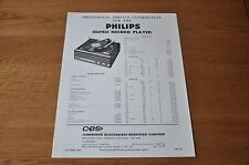 Philips 13GF821 Record Player Workshop Provisional service manual 13GF 821