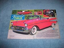 """1957 Chevy Bel Air Convertible Vintage Article """"Finned Fuelie"""" -From 1989-"""