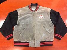 Vintage Pro Edge Suede Leather Ohio State OSU Letter Jacket Coat Men's Size XL