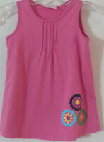 Hanna Andersson Pink Flowers Sleeveless Dress Girl 110 Approx 5-6 US Summer