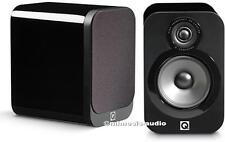 Q ACOUSTICS 3020 STANDMOUNT MONITOR SPEAKERS (PAIR) BLACK HIGH GLOSS ** NEW  **
