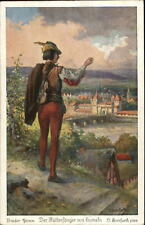 Fairy Tale Pied Piper of Hamelin Brothers Grimm Otto Herrfurth c1910 Postcard #