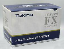 Tokina AT-X 16-28mm F2.8 for Nikon FX