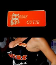 Cutie Hooters Girl Uniform Name Tag Pin Badge lingerie extra sexy Cross Dresser