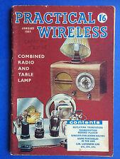PRACTICAL WIRELESS - January 1961 - Combined Radio & Table Lamp - Magazine