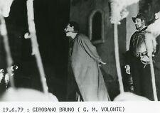 "GIAN MARIA VOLONTE ""GIORDANO BRUNO"" GIULIANO MONTALDO PHOTO DE PRESSE CINEMA CM"