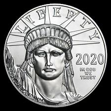 2020 1 Oz US Estado perfeito Platinum American Eagle $100-moeda brilhante Não Circulada Bu