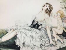 Gravure Lithographie Érotique 1900 Art Nouveau numéroté Antique Painting