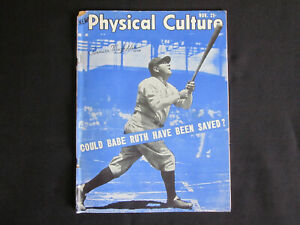 1948 BABE RUTH New York Yankees PHYSICAL CULTURE Illustrated Magazine