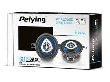 Peiying PY-AQ352C 3.5 Inch 60W 2-Way Car Coaxial Speakers Door/Shelf Pair Set