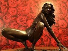 Erotic Bronze Sculpture Figure Nude Sexy Statue Act Erotic Art Woman Female Hot