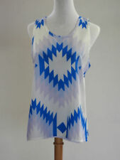 Regular Size Evening, Occasion Geometric Sleeveless Tops & Blouses for Women