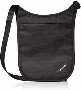 Pacsafe Coversafe V75 RFID Blocking Cross Body Neck Pouch Shoulder Holster BLACK