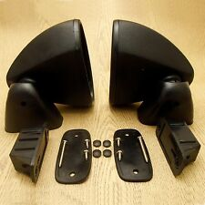 Universal Retro Door Wing Side Mirror Hot Rod Vintage Black Pair RH/LH Bullet