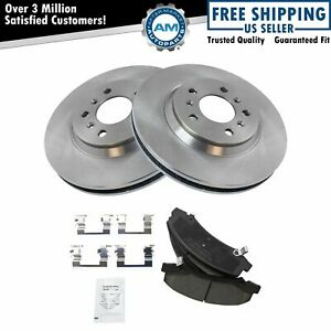 Front Ceramic Brake Pads & Rotors Left & Right Kit for Buick Chevy