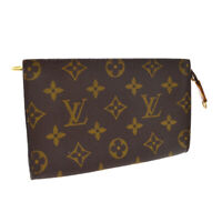 LOUIS VUITTON BUCKET PM ATTACHED POUCH PURSE MONOGRAM CANVAS AR0918 A54204