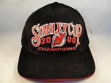 New Jersey Devils NHL Stanley Cup Champions 2000 Vintage Strapback Hat Cap Black