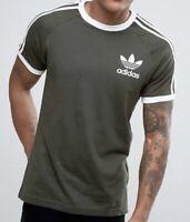 Adidas Originals Retro California Short Sleeve Crew Neck Men's T-Shirt Olive