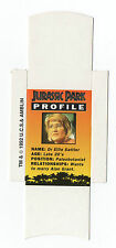 Bassett Barratt Jurassic Park Candy stick slide mint unfolded Dr Sattler Profile