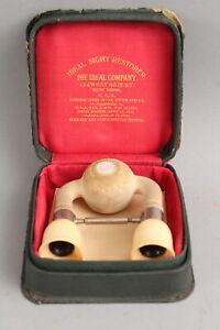 Antique Quack Medicine, IDEAL SIGHT RESTORER, Eyeball Suction Cups, NR