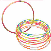 Kids Adult Striped Plastic Hula Hoop Multicolored Ring Sports Play Gym Fitness