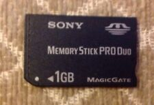 Sony Memory  Card Stick Pro Duo 1GB Magicgate Psp Sony Cybershot Cameras