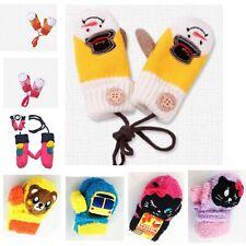 Children  Winter Cartoon Lovely Patchwork Winter Warm Mittens Gloves