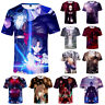 Anime Fate Stay Night Unisex Summer Loose 3D Short Sleeve T-shirt Cosplay Costum