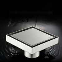 10*10 Square Bathroom Shower Floor Drain Insert Anti-odor Invisible Floor Drain