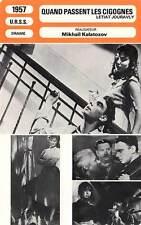 FICHE CINEMA : QUAND PASSENT LES CIGOGNES - Kalatozov 1957 The Cranes are Flying