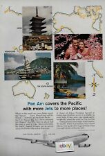 PAN AM COVERS THE PACIFIC WITH MORE 707 JETS JAPAN-HONG KONG-SYDNEY AD