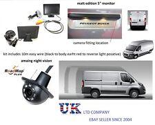 peugeot boxer citroen relay rear reversing camera 5 inch monitor kit parking