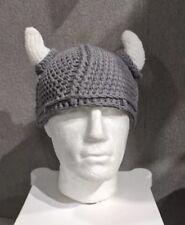 Viking crochet hat adult size