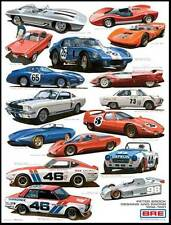 """REDUCED Peter Brock Designs and Race Cars Poster 22""""x28"""""""