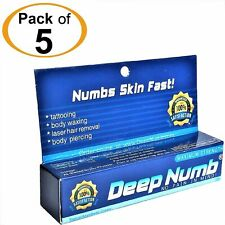 5pcs X 10g DEEP NUMB Numbing Cream AnestheticTattoo Piercing Waxing Laser Dr