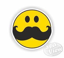 Bigote Smiley Amarillo feliz humor Coche Camioneta Calcomanía Pegatinas Gracioso Pegatina