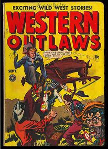 Western Outlaws #17 (#1) First Issue Kamen Art Golden Age Fox Comic 1948 VG